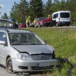 Henkilöautot kolaroivat Mäntäntiellä, ei vakavia henkilövahinkoja