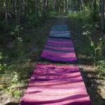 Riitta Kurkela kuljettaa katsojia Mattojen poluilla – räsymattonäyttelyssä on esillä mattoja, valokuvia ja pienesineitä