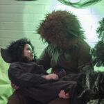 Pikku Mörkyli hiippaili yöllä metsään ja kohtasi siellä Hirmuisen Hiiren