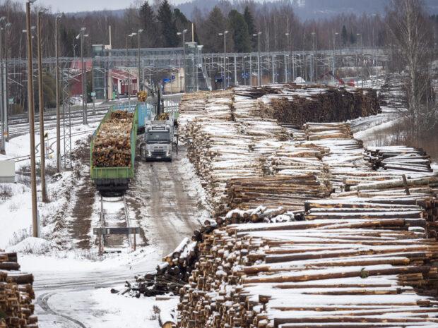 Oriveden asema puutavaran lastausalue