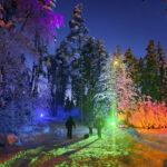 Hurmaava valotaideteos on esillä Paltanmäessä – vielä ehtii nauttia pulkkailusta satumaisissa olosuhteissa