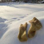 Talvi, varpaat ja villasukat
