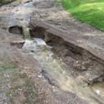 Lukijan kuva: Längelmäen kirkolla satoi parissa tunnissa 79 milliä – uuden hautausmaan huoltotie kärsi pahoin
