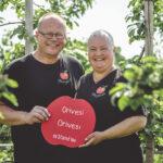 Orivesi sai oman Zonga-omenapuun Ahvenanmaalle – tilan väki toivottaa kaupunkilaiset syksyllä tervetulleiksi sadonkorjuuseen