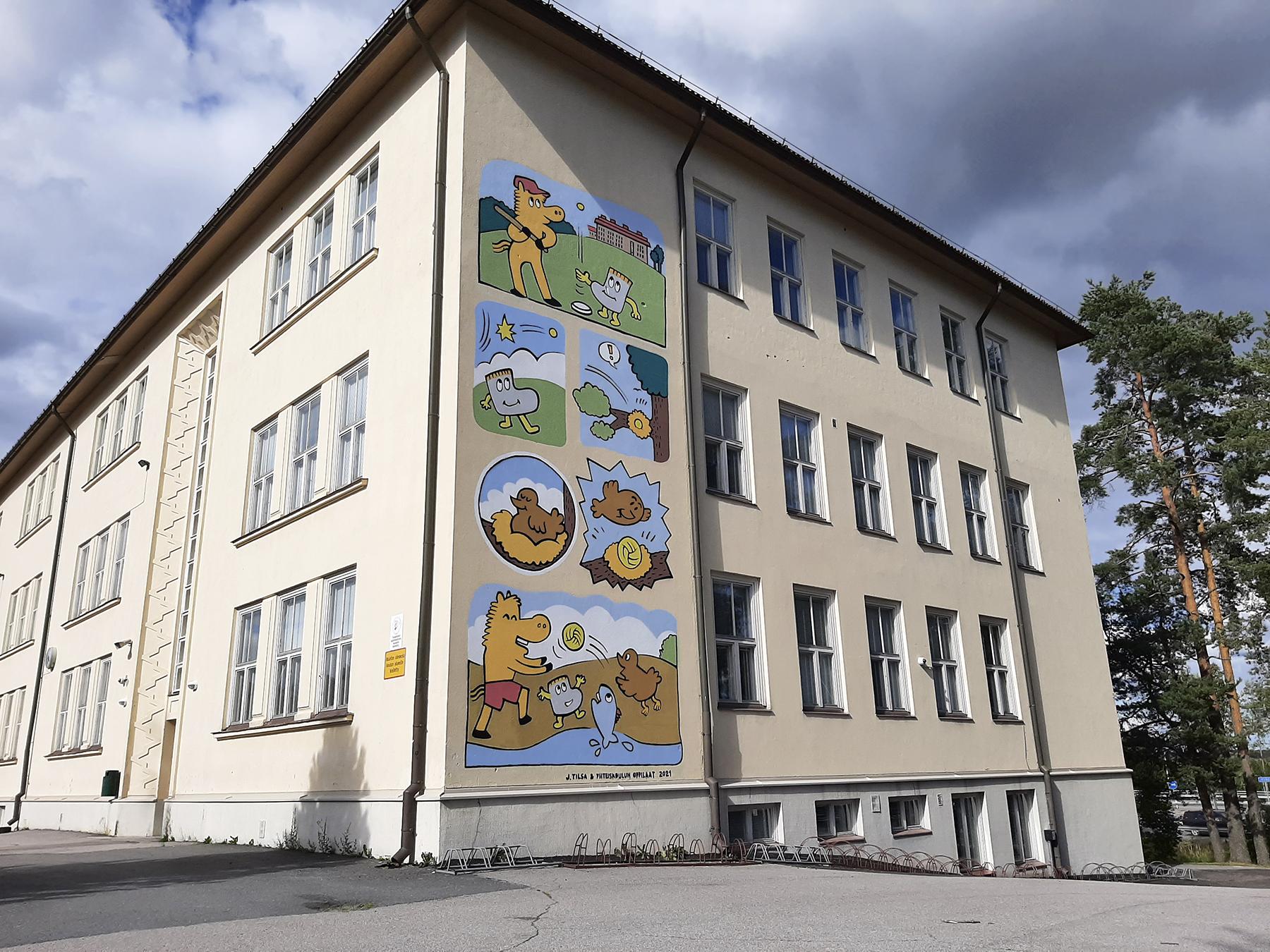 Muraali, Oriveden yhteiskoulu