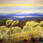 Kuin luonto puhuisi väreillä – nuorena kuolleen Kullervo Koiviston maisemamaalaukset pääsevät esille Galleria Akvaarioon