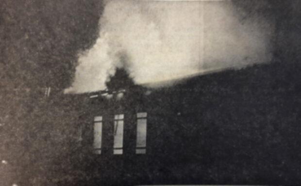 Vanha vuosikerta, Oriveden Opiston tulipalo